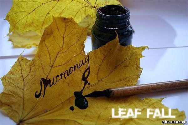 Ангел leaf fall